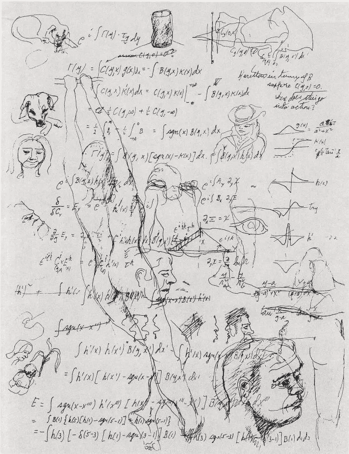 Piece from Richard Feynman's little-known sketches, edited by his daughter..